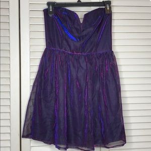 Vintage festival mini dress strapless couture